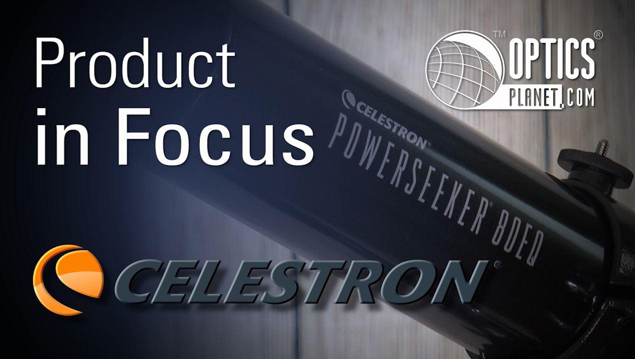 opplanet celestron powerseeker 80eq product in focus opticsplanet video