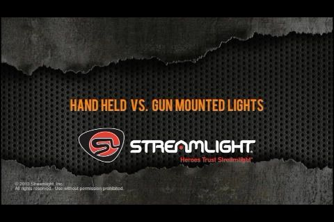 opplanet streamlight hand held vs gun mounted lights review video