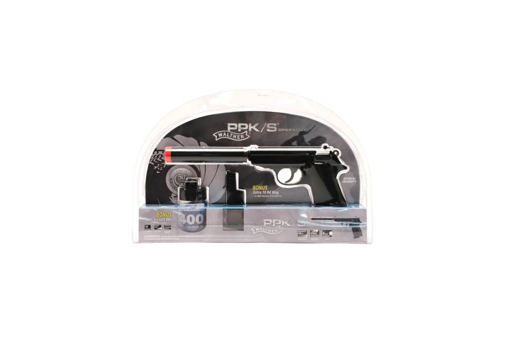 Umarex Walther PPK/S Operative Kit w/Spring Pistol - Airsoft