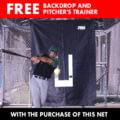 Jugs Sports No. 8 Batting Cage Net 59x15x11ft