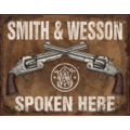 Tin Signs S&W Spoken Here Tin Sign