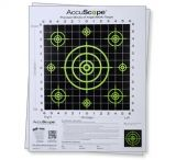 AccuScope Paper Shooting Targets. 10Pack