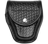 Bianchi 7917 Double Cuff Case - Plain Black, Hidden 22184