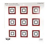 Birchwood Casey Rigid Paper Target Precision Square 12 Inch 10 Per Package 37212B