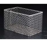 Black Machine Test Tube Baskets, Stainless Steel, Black Machine SS305/E Square