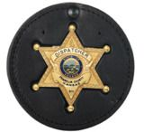 "Boston Leather 3.75"" Round Badge Hldrw/recess"