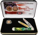 """Case Indian Head Penny and Knife Gift Set - 4.12"""" Closed"""