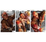 Champion VisiColor Zombie Targets 6 Pack - Attack
