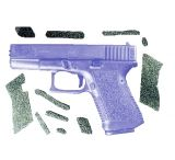 Decal Grip Enhancer For Glock 19 w/ Finger Grooves G19FG