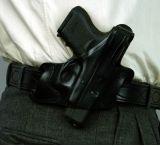 DeSantis Right Hand Black Park Row Belt Slide Holster 034BAB2Z0 - GLOCK 17, 19, 22, 23, 26, 27