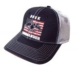 Duck Commander DHNWF Flag Navy/White Hat Mesh One Size Cotton/Poly 10Pk