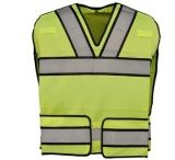 Gerber Outerwear Bright Star Vest with Silver Trim - Ansi 207-Ansi 107