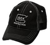 Glock AS00082 Perfection Distressed Hat Adj Velcro Cotton/Mesh Black/Silver