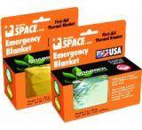 Grabber Emergency Space Blanket, Orange