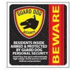 Guard Dog Security Window/Door Sticker
