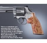 Hogue Ruger SP101 Handgun Grip Tulipwood No Finger Groove Stripe Cap 81730