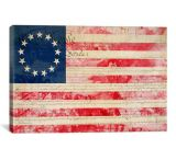 iCanvasART Betsy Ross US Flag 13 Stars Canvas Print