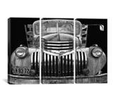 iCanvasART Chev 4 Sale Black and White by Larry Hunter Canvas Print, US Made