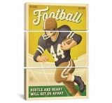 iCanvasART Football New by Anderson Design Group Print, US Made