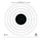 Law Enforcement Targets NRA-SR-1 100 Yard Rapid Fire Military Target 21x21 Inch Black/White 100 Per Case