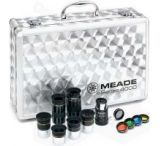 Meade Series 4000 Eyepiece & Filter Set - 6 Meade Telescope Eyepieces, #126 Barlow Lens, 4 Color Filters, ND96 Moon Filter & Aluminum Case - 07169