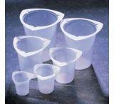 Medegen Medical Tri-Pour Graduated Disposable Beakers, Polypropylene PL5930-100 Caps