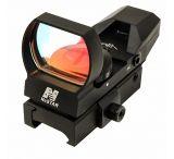 NcStar 4-Reticle Reflex Black Sight w/ QR Mount