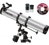 "Meade 114EQ-AR 114mm Telescope 4.5"" Equatorial Reflector with Red Dot Finder Scope, Full-Size Tripod, 2 Eyepieces, Meade Autostar Suite Software 04067"