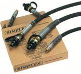 Simplex 18170 1/4inid 6ft Hose W/coupl 720-HC6
