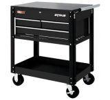 Waterloo 3 Drawer Metal Utility Cart Bl 797-UC310BK