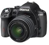 Pentax K-500 Digital SLR Camera with 18-55mm and f-3.5-5.6 Lens, Black