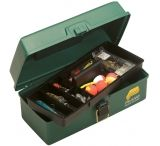Plano Molding Green Metallic Tackle Box