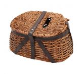 River's Edge Wicker and Faux Leather Antiqued Tightly Woven Fishing Creel