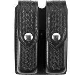 Safariland 77 Double Handgun Magazine Pouch - Basket Black, Ambidextrous 77-83-4