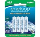 Sanyo Eneloop 4 Pack Rechargeable AAA Batteries
