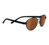 Serengeti Mondello Single Vision Prescription Sunglasses, Shiny Copper Stripe Frame-7773SV