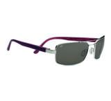 Serengeti Tosca Progressive Prescription Sunglasses, Shiny Silver/Deep Red Brown Laser Frame-7795PR