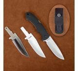Stone River Gear Change Blade Hunting Knife with Ceramic and Steel Blades
