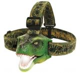 Sun Company T-Rex DinoBryte Kid Dinosaur T-Rex LED Headlamp Flashlight w/ Roaring Sound