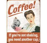 Tin Signs Coffee Shaking Tin Sign