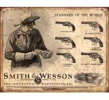Tin Signs S&W Revolvers Tin Sign