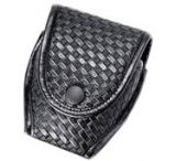 Uncle Mike's Mirage Plain or Basketweave Black Compact Cuff Case