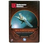 Underwater Kinetics Sea Turtle Pack (Safety Yellow C4 eLED, Mini Q40 eLED w/mask strap, Dive Beacon)