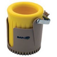 Bar-Buoy Golf Buoy Cup Holder Tan and Yellow