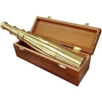 Barska Anchor Master 18x50 Collapsible Spyscope - Handcrafted Brass Telescope w/ Storage Chest AA10612