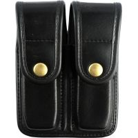 Bianchi 7902 Double Mag Pouch - Plain Black, Brass 22192