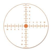 Birchwood Casey Sharpshooter Corrugated Plastic Sight-In Target Orange On White 24 Inch Round One Per Package 38224