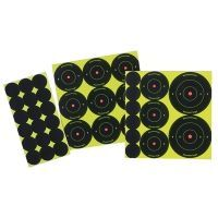 Birchwood Casey Shoot-N-C Bullseye Packs, 60x 1in., 30x 2in., 20x 1in.