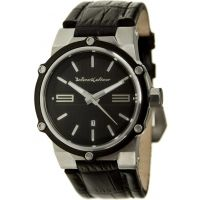 Black Dice Contraband 052 Quartz Mens Watch - Leather Band, Round Dial