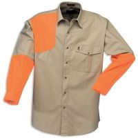 Browning Prairielands Canvas Overlay Shirt, Khaki/Blaze